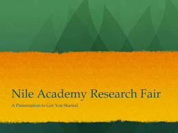 Nile Academy Research Fair