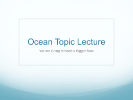 Ocean Topic Lecture