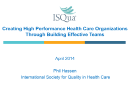 ISQUA Webinar_April 2014_Phil Hassen