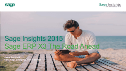 Sage Insights 2015 Presentation Title here