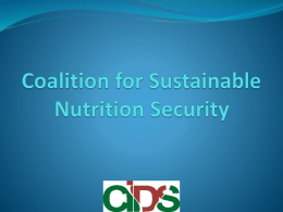Presentation 03092013 final - Coalition for Food & Nutrition Security