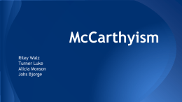 McCarthyism Questions 10