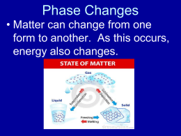 Unit 5 Phase Changes power point 2014