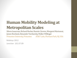 Human Mobility Modeling at Metropolitan Scales