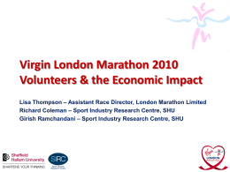 Virgin London Marathon Economic Impact & Volunteers