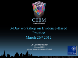 Presentation of presentations - Centre for Evidence