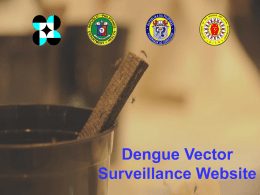 deNGUE VECTOR SURVEILLANCE STATUS UPDATE_30Oct2013