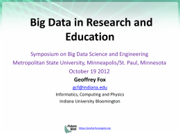 Big Data in Research and Education