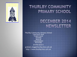 DSA - Thurlby Community Primary School