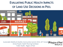 Evaluating Public Health Impacts of Land Use