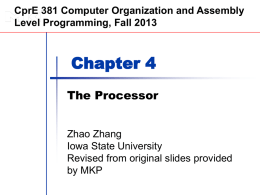 Chapter 4 — The Processor