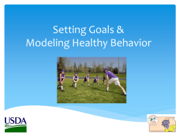 Setting Goals and Modeling Behavior PowerPoint