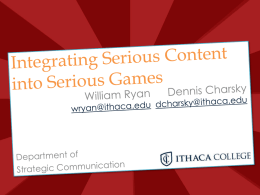 Integrating Serious Content into Serious Games