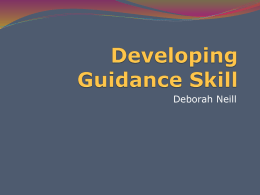Developing Guidance Skills 1