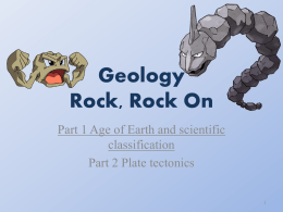 Geology Part 1 2014 Teacher