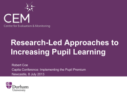 Research-Led Approaches to Increasing Pupil Learning (ppt)