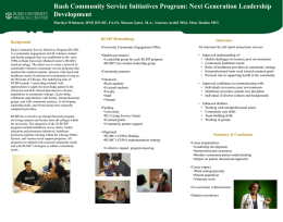 Rush Community Service Initiatives Program: Next Generation