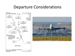 Departure Considerations and Procedures