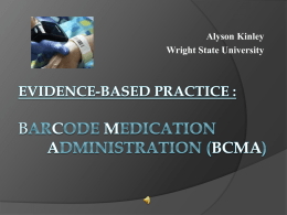 Evidence-based Practice Change: Barcode Medication Administration