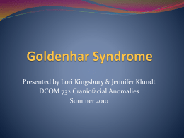 Goldenhar Syndrome presentation