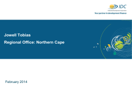 Northern Cape – Industrial Development Corporation