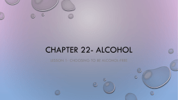 Chapter 22- Alcohol L1