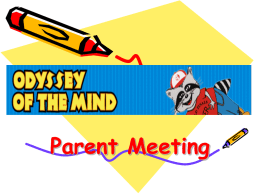 2015 Power Point for Parent Meeting