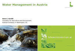 Austria`s Water Management