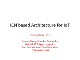 Context Centric ICN based Architecture for IoT