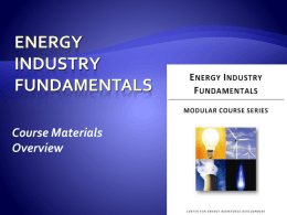 Energy Industry Fundamental