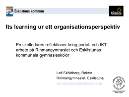 Its learning ur ett organisationsperspektiv