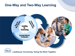 One-Way, Two-Way Learning