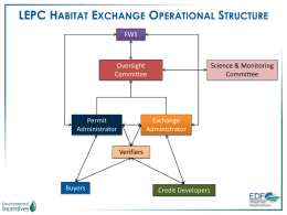 LEPC Habitat Exchange Operational Structure
