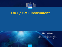 H2020 Open Disruptive innovation SME instrument - Marro