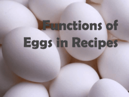 Functions of Eggs power point