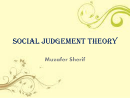 Social Judgement Theory (SJT)