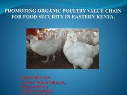 promoting organic poultry value chain for food security in eastern