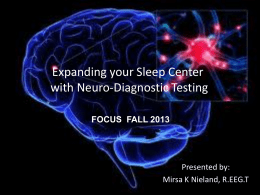 Expanding your Sleep Center Neuro