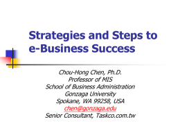 Strategies and Steps to eBusiness Success