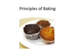 Principles of Baking