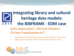 Integrating library and cultural heritage data models: the