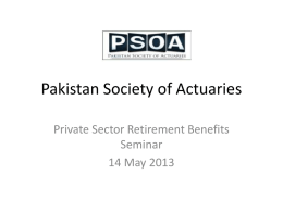 Introduction - Pakistan Society of Actuaries