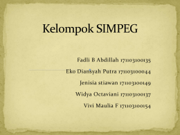 Tugas Power Point Kelompok SIMPEG