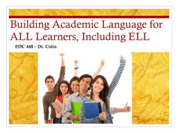 448 ELL Academic Language