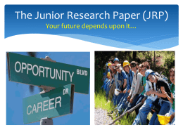 JRP PPT the_junior_research_paper_jrp