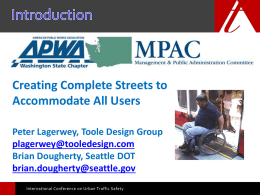 Creating Complete Streets to Accommodate All Users