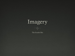 Imagery and The Scarlet Ibis PPT