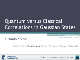 Quantum versus Classical Correlations in Gaussian States