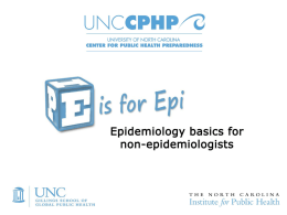 A Dictionary of Epidemiology - UNC Center for Public Health