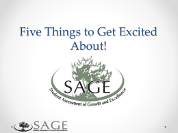 UCTE_SAGE_Overview_Powerpoint